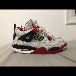 Jordan Shoes   205 Fire Red Laser 4s